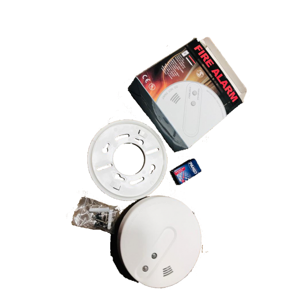 Wireless Photoelectric Smoke Detector 9 Volt - Fire Alarm