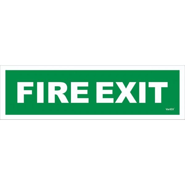 Photo-Luminescent (Glow in Dark) Fire Exit Signage Board (12x4 Inches)
